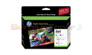 HP NO 564 INK CART CMY PHOTO VALUE PACK (CG925AN)