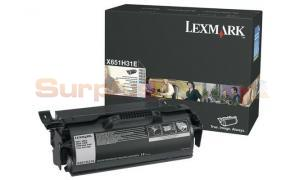 LEXMARK X651 CORPORATE PRINT CARTRIDGE BLACK HY (X651H31E)