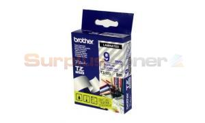 BROTHER TZ LAMINATED TAPE BLUE ON CLEAR 9MM X 8M (TZ-123)
