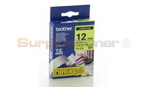 BROTHER TZ LAMINATED TAPE BLACK ON FLOURESCENT YELLOW 12MM X 5M (TZ-C31)