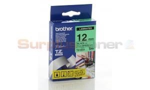BROTHER TZ LAMINATED TAPE BLACK ON FLUORESCENT GREEN 12MM X 5M (TZ-D31)
