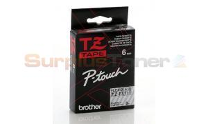 BROTHER TZ FLEXI TAPE BLACK ON CLEAR 6MM X 8M (TZ-FX111)