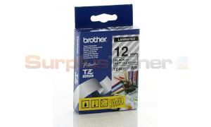 BROTHER TZ LAMINATED TAPE BLACK ON MATT CLEAR 12MM X 8M (TZ-M31)