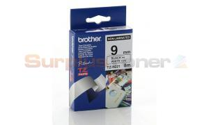 BROTHER TZ NON-LAMINATED TAPE BLACK ON WHITE 9MM X 8M (TZ-N221)