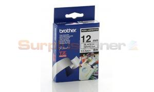 BROTHER TZ NON-LAMINATED TAPE BLACK ON WHITE 12MM X 8M (TZ-N231)