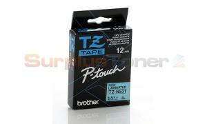 BROTHER TZ NON-LAMINATED TAPE BLACK ON BLUE 12MM X 8M (TZ-N531)