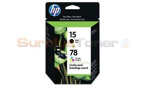 HP NO 15 78 INK BLACK/TRI-COLOR COMBO-PACK (C8789FN)