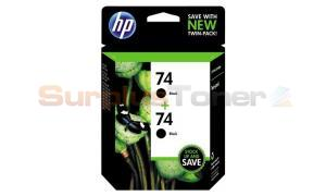 HP NO 74 INK CARTRIDGE BLACK TWIN PACK (CZ069FN)