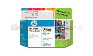HP NO 75 XL INK TRI-COLOR PHOTO VALUE PACK (Q8846AN)