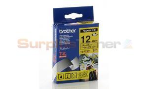 BROTHER TZ ID FLEXIBLE TAPE BLACK ON YELLOW 12 MM X 8 M (TZ-FX631)