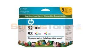 HP NO 92 93 93 INK CART BLACK/TRI-COLOR COMBO PACK (CD977FN)
