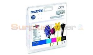 BROTHER MFC-235C INK VALUE PACK (CMYK)+BP61GLP (LC-970VB1P)