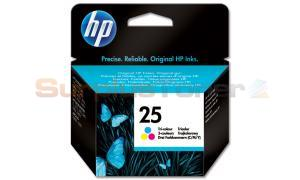 HP NO 25 INKJET PRINT CARTRIDGE TRI-COLOR (51625AE)