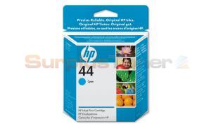 HP NO 44 INKJET PRINT CARTRIDGE CYAN 42ML (51644CE)
