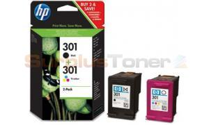 HP NO 301 INK CART BLACK/TRI-COLOR COMBO-PACK (CR340EE)