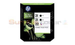 HP NO 21 21 22 INK CART BLACK/TRI-COLOR COMBO PACK (SD400AE#445)