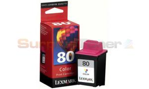 LEXMARK NO 80 PRINT CARTRIDGE COLOR (12A1980E)