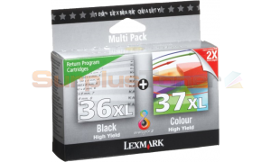 LEXMARK 36XL 37XL HY PRINT CTG BLACK/COLOUR TWIN-PACK RP (80D2978)