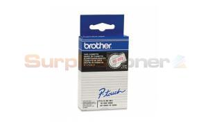 BROTHER TC TAPE RED ON WHITE 12 MM X 7.7 M (TC-202)