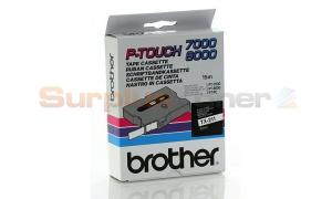BROTHER TX TAPE BLACK ON WHITE 6 MM X 15 M (TX-211)
