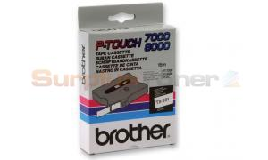 BROTHER TX TAPE BLACK ON WHITE 12 MM X 15 M (TX-231)