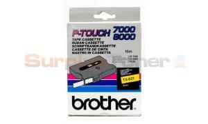 BROTHER TX TAPE BLACK ON YELLOW 9 MM X 15 M (TX-621)