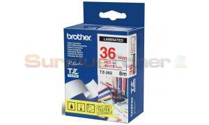 BROTHER TZ LAMINATED TAPE RED ON WHITE 36 MM X 8 M (TZ-262)