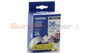 BROTHER TZ LAMINATED TAPE BLUE ON WHITE 36 MM X 8 M (TZ-263)
