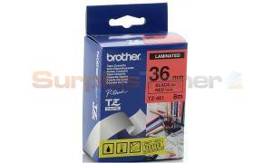 BROTHER TZ LAMINATED TAPE BLACK ON RED 36 MM X 8 M (TZ-461)