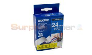 BROTHER TZ LAMINATED TAPE WHITE ON BLUE 24 MM X 8 M (TZ-555)