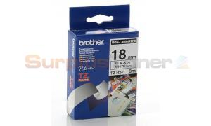BROTHER TZ TAPE BLACK ON WHITE 18 MM X 8 M (TZ-N241)