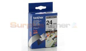 BROTHER TZ TAPE BLACK ON WHITE 24 MM X 8 M (TZ-N251)