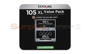 LEXMARK 105 XL INK CARTRIDGES VALUE PACK BLACK RP (14N1189)