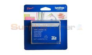BROTHER TZ LAMINATED TAPE WHITE ON LIGHT GRAY 12 MM X 5 M (TZE-MQL35)