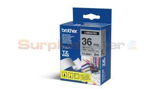 BROTHER TZ LAMINATED TAPE BLACK ON MATT SILVER 36 MM X 8 M (TZ-M961)