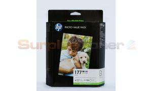 HP NO 177 INK CARTS COLOR & VALUE PACK 150 SHEETS (Q7967HE)