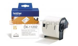 BROTHER QL-500 SHIPPING LABELS BLACK ON WHITE PAPER 62 MM X 100 MM (DK-11202)