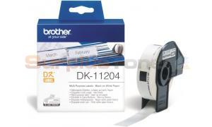 BROTHER QL-500 MULTI PURPOSE LABELS BLACK ON WHITE 17 MM X 54 MM (DK-11204)