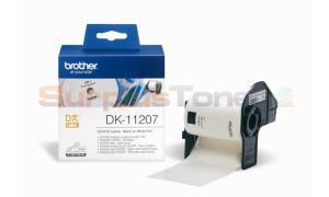 BROTHER QL-500 CD/DVD LABELS BLACK ON WHITE 58 MM X 58 MM (DK-11207)