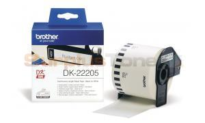 BROTHER QL-500 CONTINUOUS LENGTH PAPER BLACK ON WHITE 62 MM X 30.48 M (DK-22205)