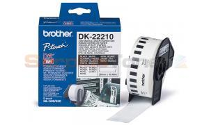 BROTHER QL-500 CONTINUOUS LENGTH PAPER TAPE BLACK ON WHITE 29 MM X 30.48 M (DK-22210)