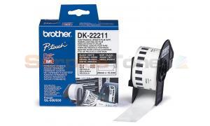 BROTHER DK-22211 CONTINUOUS LENGTH FILM TAPE BLACK ON WHITE 29 MM X 15.24 M (DK-22211)