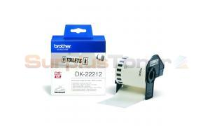BROTHER QL-500 CONTINUOUS LENGTH FILM TAPE BLACK ON WHITE 62 MM X 15.24 M (DK-22212)