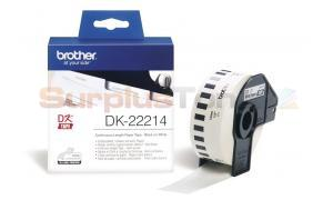 BROTHER QL-500 CONTINUOUS LENGTH PAPER TAPE BLACK ON WHITE 12 MM X 30.48 M  (DK-22214)