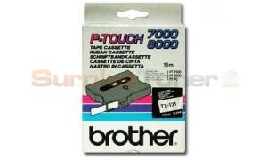 BROTHER TX TAPE BLACK ON CLEAR 12 MM X 15 M (TX-131)