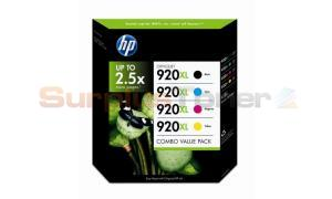 HP NO 920XL INK COLOR COMBO VALUE PACK (CH650BN)