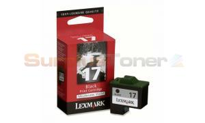 LEXMARK NO 17 PRINT CARTRIDGE BLACK (10N0375)