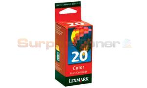 LEXMARK NO 20 PRINT CARTRIDGE COLOR (15M0985)