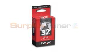 LEXMARK NO 32 PRINT CARTRIDGE BLACK (18C0620)
