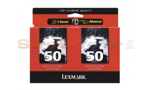 LEXMARK NO 50 PRINT CART BLACK TWIN PACK (53A1506)